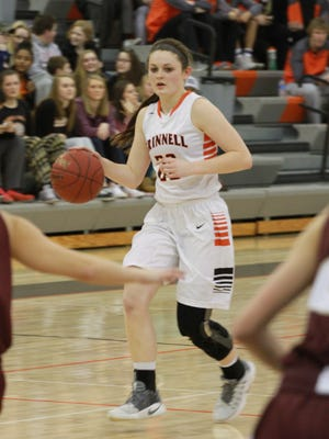 Grinnell's senior guard Madeline Wilkins was named to the Iowa Newspaper Association's Class 4A Girls All-State Basketball team as a third tream back court player.