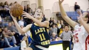 Gloucester Kylee Hirst, shown here in a file photo, scored 14 points and had 10 rebounds in her team's championship win in the West Chapter 5 Girls' Basketball Summer League.