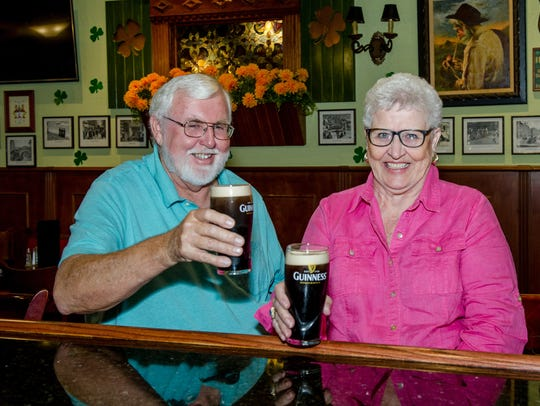 Bob Watson and his sister Marilyn McCarthy enjoy a