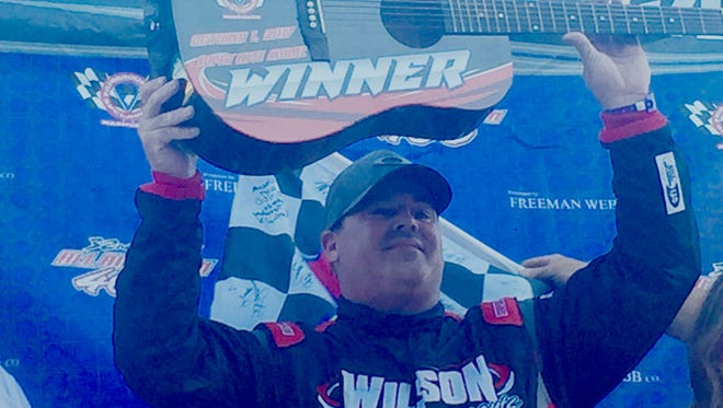 Donnie Wilson of Oklahoma City won the 33rd annual All-American 400 at Fairgrounds Speedway Nashville on Sunday.