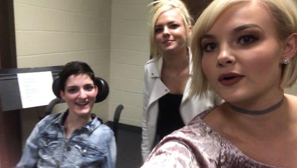Ashlyn Kossan poses with Kendra and Krista Slaubaugh of Tigirlily.