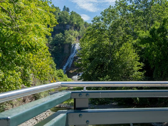 The Lake Street Bridge, by Ithaca Falls, is scheduled to reopen to traffic Aug. 31.
