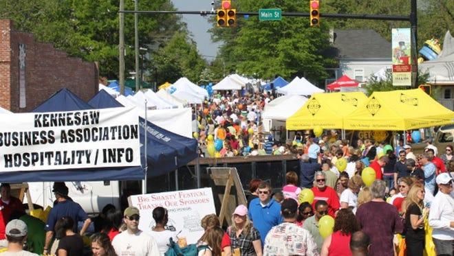 Crowds at Atlanta New Earth Fest held last weekend of September every year.