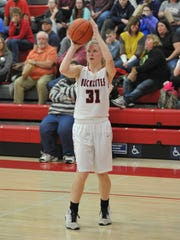 Buckeye Central's Kyleigh Brown attempts a mid-range