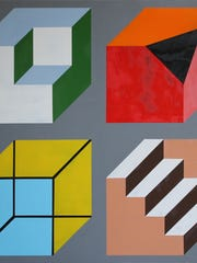 Asheville artist Jeremy Phillips builds on the work of conceptual painters like Sol Lewitt.