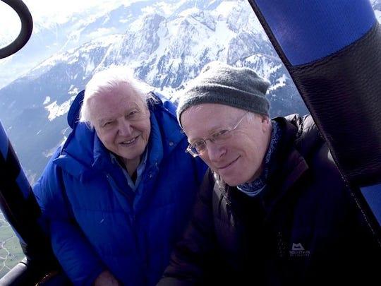 Mike Gunton, right, and David Attenborough together