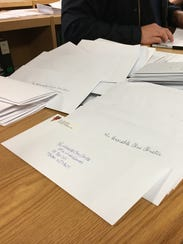 Kingsway Education Association collected letters for