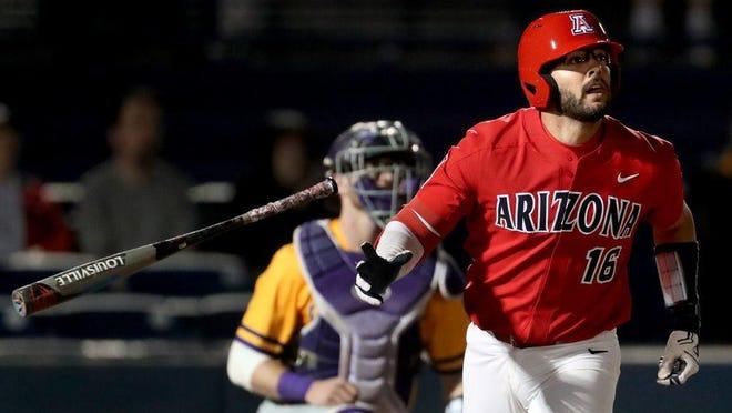 Yankees draft choice Austin Wells of the University of Arizona. KELLY PRESNELL/Arizona Daily Star