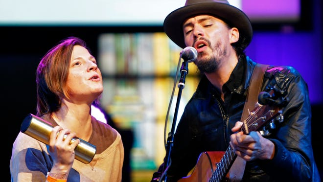Nicole Rae (left) and Cory Chisel perform in 2014. Chisel will perform at Riverview Gardens in Appleton on March 7. Rae's duo Wilfret & Miss will open the show.
