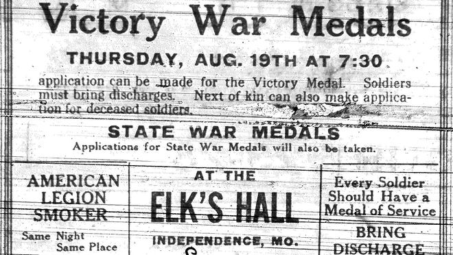 An ad from 100 years ago this week in The Independence Examiner.
