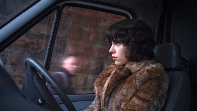 "Scarlett Johansson is shown in a scene from ""Under the Skin."""