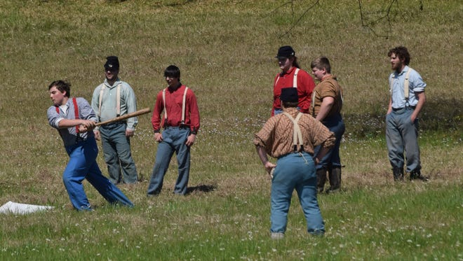 A Civil War Battle re-enactment at Forts Randolph & Buhlow State Historic Site started with a period baseball game that led into a battle. Living history camps and historical demonstrations were also at the site Saturday.