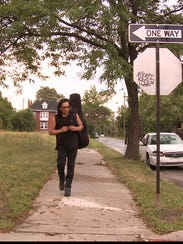 Sixto Rodriguez in a scene from the documentary film