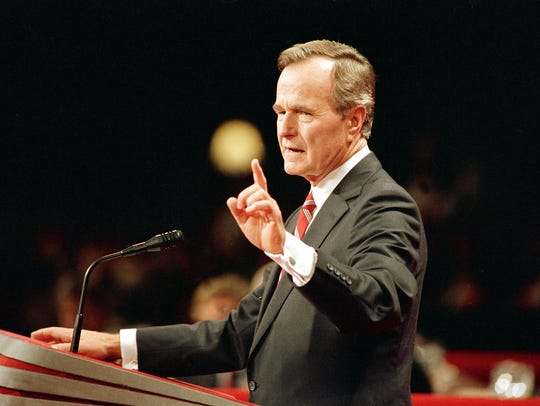 George H.W. Bush accepts his nomination as the GOP