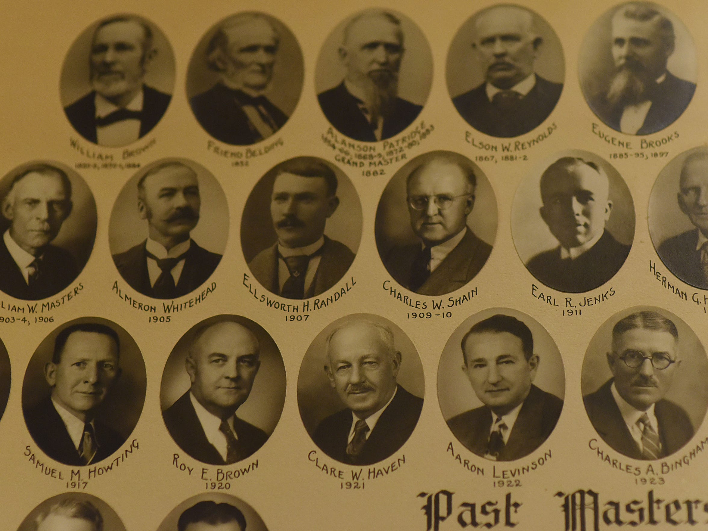 Notable past Masters include Almeron Whitehead, Charles