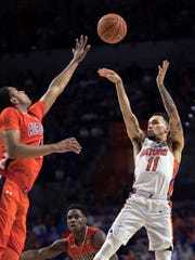Florida guard Chris Chiozza, who finished with eight