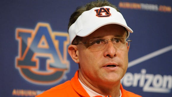 Auburn coach Gus Malzahn has a press conference Saturday.