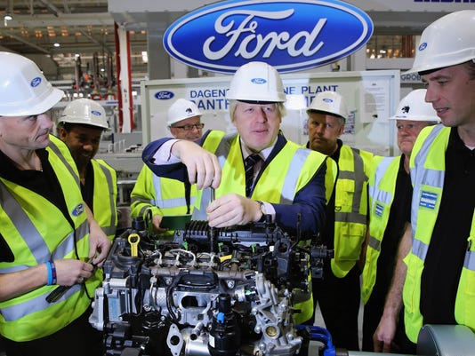 Mayor Boris Johnson Visits The News State Of The Art Ford Production Line