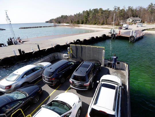 The ferry Washington pulls into port at the tip of the Door County Peninsula in Northport on May 17, 2018. Sarah Kloepping/USA TODAY NETWORK-Wisconsin