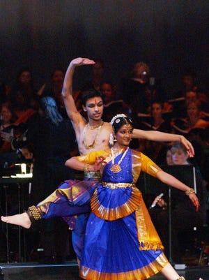 Bharatanatyam dancer Medha Hari of Chennai, India.