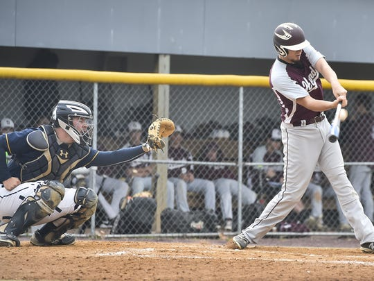 Shippensburg's Teagan Staver takes a swing in front