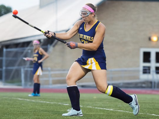 Jenna Carty and the Greencastle-Antrim field hockey team takes on Twin Valley in the first round of the District 3 Class 2A field hockey tournament. Twin Valley won the 2A state title in 2015.