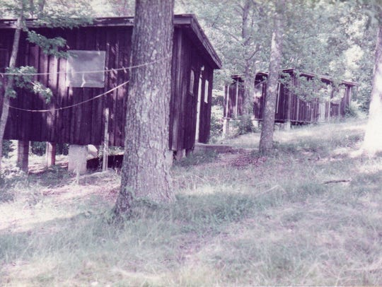 The original cabins were quite rustic. During that