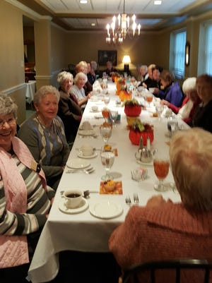 Members of P.E.O. Chapter AU met Thursday at Friends Fellowship.