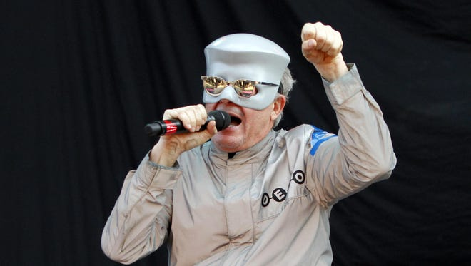Mothersbaugh, of Devo, performs a song during the fifth annual concert festival at Lollapalooza in August 2010.