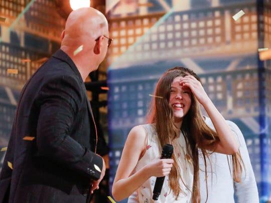 'America's Got Talent' judge Howie Mandel, left, made singer Courtney Hadwin his Season 13 Golden Buzzer recipient.
