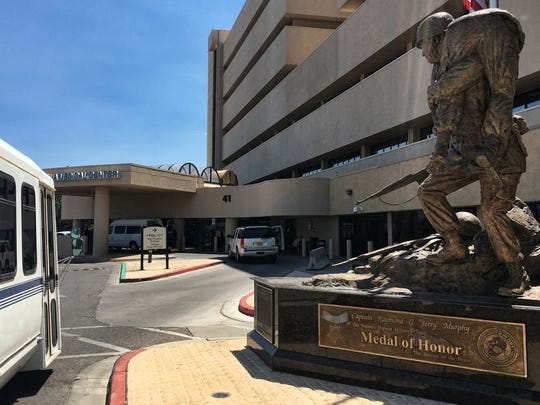 The Raymond G. Murphy VA Medical Center in Albuquerque, N.M. is shown in this Friday, July 8, 2016, photo. Veterans Affairs' health care system officials in New Mexico say they are adopting various charges to improve access amid a critical Office of Inspector General report.