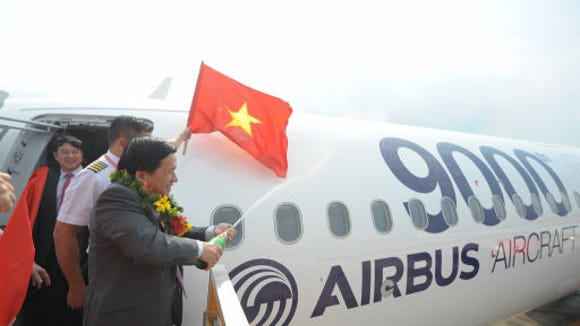 VietJetAir celebrated the arrival of its new A321 at