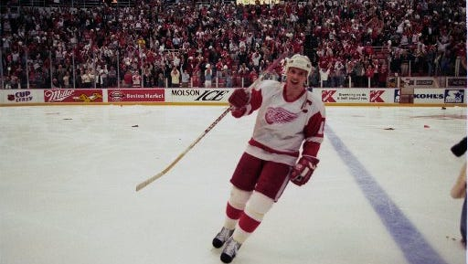 Steve Yzerman scored an iconic Game 7 goal for the Red Wings in 1996.