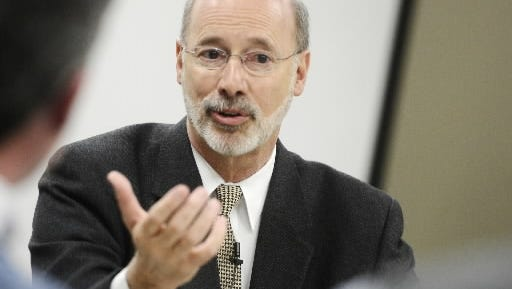 Gov. Tom Wolf issued a line-item veto of a state budget bill.
