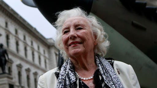 """FILE - In this Friday Aug. 20, 2010 file photo, Dame Vera Lynn attends a ceremony to mark the 70th anniversary of the Battle of Britain. in central London. Singer Vera Lynn is making plans to mark her 100th birthday with the release of a new album featuring many of her (very) old classics. The songstress said Thursday Feb. 2, 2017, it's """"truly humbling that people still enjoy these songs from so many years ago."""""""