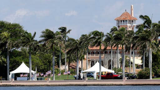 FILE - In this April 3, 2017 file photo, President Donald Trump's Mar-a-Lago resort in Palm Beach, Fla.  It's widely estimated that each trip to the resort costs taxpayers $3 million, based on a government study of the cost of a 2013 trip to Florida by President Barack Obama. But that trip was more complicated and the study's author says it can't be used to calculate the cost of Trump's travel. This weekend, Trump is making his seventh visit to Mar-a-Lago since becoming president.