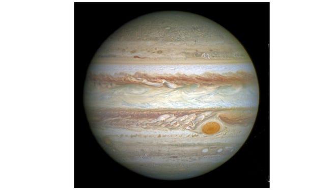 Jupiter and its famed Giant Red Spot.