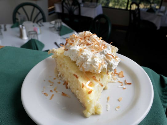 The coconut cream pie is homemade at DeVito's, as are