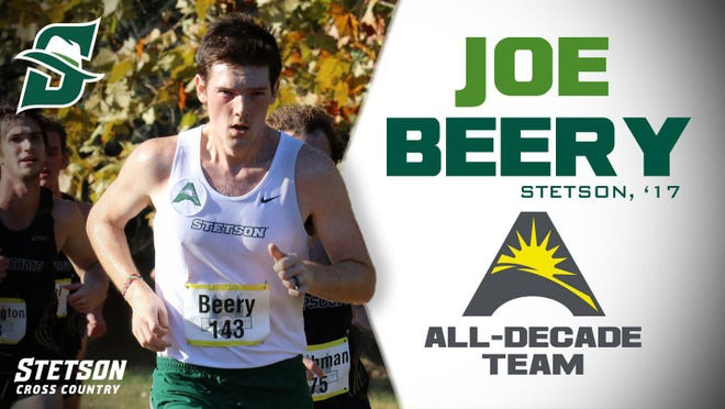 Stetson University graduate Joe Beery was named to the ASUN Men's Cross Country 2010-19 All-Decade Team, the league announced.