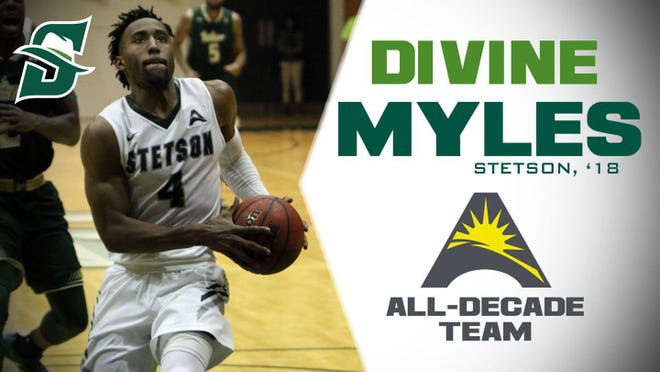 Divine Myles is Stetson's all-time leading scorer in men's basketball.