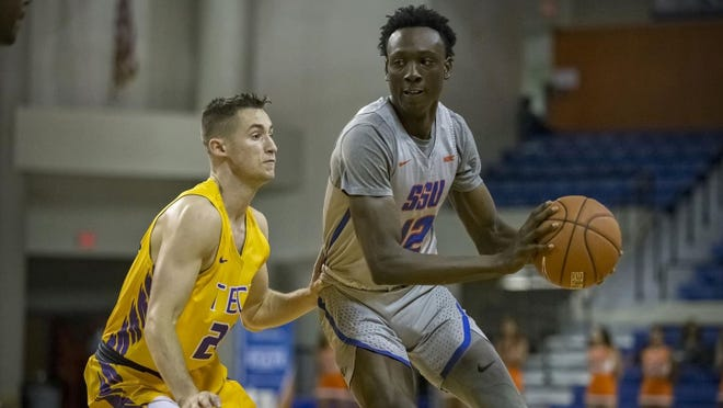 Barnwell native Jahlin Smith (right), who was a standout basketball player at Savannah State University, has signed a contract to play professionally with the TSV NEUSTADT TEMPS SHOOTERS in Germany.