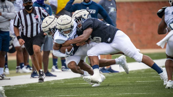 The intensity the defense brought all Saturday morning really dominated the scrimmage at Paulson Stadium in Statesboro.
