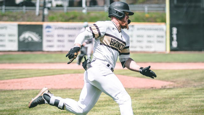 Western Michigan's Blake Dunn is leading the Northwoods League south pod in hitting this summer.