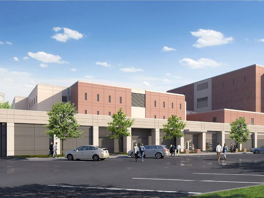 Rendering of the projected Minnehaha County Jail expansion,