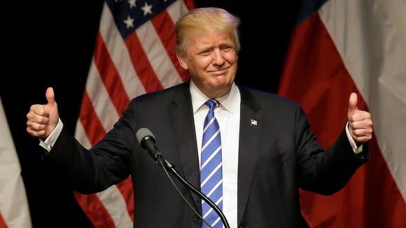 Donald Trump in Texas on June 16, 2016.
