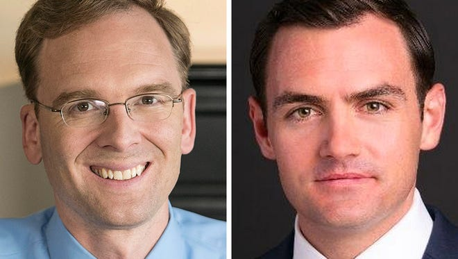 Democrat Tom Nelson (left) and Republican Mike Gallagher are running for the 8th Congressional District seat.