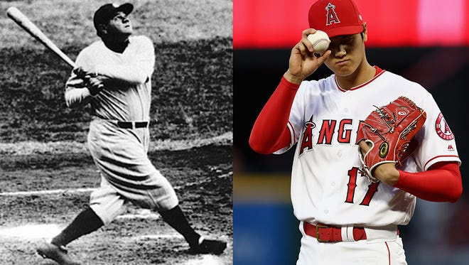 "Angels two-way player Shohei Ohtani has been called ""The Modern Day Babe Ruth."""