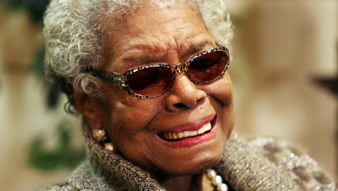 Maya Angelou speaks with the media after rehearsal with Cincinnati Symphony Orchestra on Nov. 8, 2013 at Music Hall.