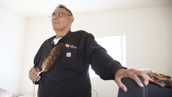 Louis Amiotte, a Lakota Indian, believes an eagle feather has protected him, especially when he was near death last year.
