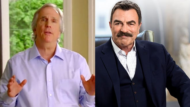 Henry Winkler serves as a spokesperson for Detroit-based One Reverse Mortgage and Tom Selleck acts as the new pitchman for American Advisors Group.